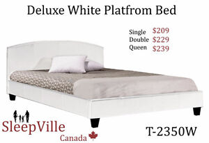 Double White Platform Bed -Special Price  Free Same Day Delivery