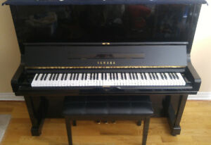 Yamaha U3 Upright piano with bench (Black color)