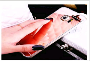 Samsung Galaxy S8+ rose gold mirrored cellular phone case