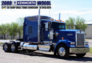 2008 KENWORTH W900L ***CAT C15 550HP SINGLE TURBO - 18 SPEED***