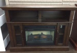 "Amazing Deal for a 48"" Dark Brown Fireplace Media Console"