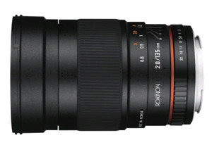 Rokinon 135mm F2.0 ED UMC Lens for Nikon with AE chip