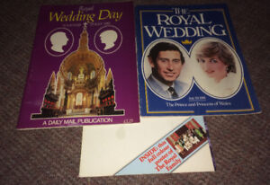 Princess Diana Royal Wedding Books & Huge Poster of Royal Family