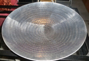 Pier 1 Metal silver platter (17 inc)