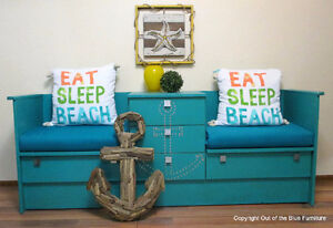Nautical reading nook/entry bench w/storage