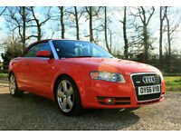 2006 (56) AUDI A4 2.0 T FSI 140 S LINE CABRIOLET MANUAL WARRANTIED LOW MILEAGE