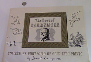The Best of Lionel Barrymore, 4 Gold-Etch Prints Kitchener / Waterloo Kitchener Area image 1