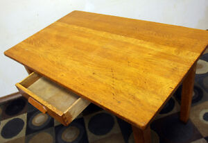 Excellent Rustic Oak Antique DINING / WORK Table SEE VIDEO