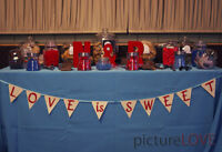 Red and Blue Wedding Decorations
