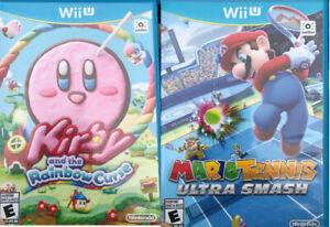 WiiU - Kirby and the Rainbow cruse  $40 & Mario Tennis Ultr