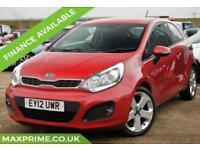 2012 KIA RIO 1.4 PETROL SAPPHIRE RED + FULL HISTORY + MOT 2019 + HEATED SEATS