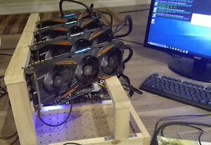 Cryptocurrency Mining Rig (4 x GTX 1070 8GB) NEW + gift