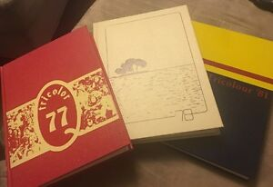Queens homecoming University Yearbooks 77 78  tricolor hardcover