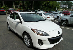 2012 Mazda3 Sky active Sedan fully loaded-leather, sunroof