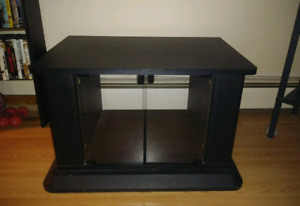 Black swivel T.V. stand