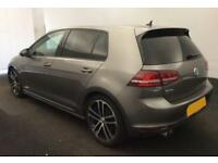 2016 GREY VW GOLF 2.0 TDI 184 GTD DIESEL MANUAL 5DR HATCH CAR FINANCE FR £62 PW