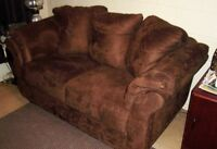 Lowered Price Almost New Microfibre Comfortable Sofa