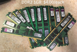 HDD SATA  80GB  3.5 inch $5.0, Desktop DDR2 1gb RAM  $4.0