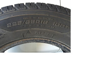 Good Year 4 Winter Tires - 225/65/R16 - Great Condition..