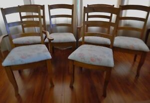 Set of 6 Solid Wood Chairs