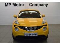 2014 64 NISSAN JUKE 1.6 VISIA 5D 94 BHP HATCH, 1 OWNER, YELLOW, 19-000M SH,