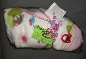 Swaddled Baby Girl Diaper Design