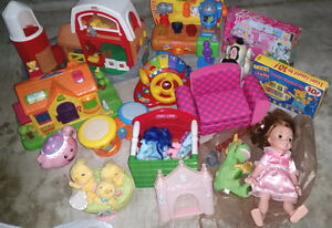 Lots of child toys- Electronic/robotic/books/dolls/shoes... Exc