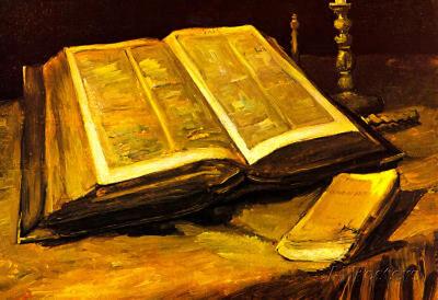 Vincent Van Gogh Still Life with Bible Art Print Poster - 19x13