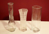 Three Small Glass Vases