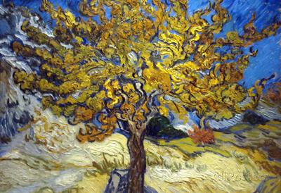Vincent Van Gogh The Mulberry Tree Art Print Poster Poster Print, 19x13