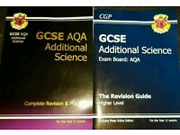 CGP GCSE AQA Additional Science Revision Guides.