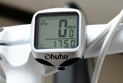 Wireless Bicycle Bike LCD Computer Speedometer Odometer Waterproof Back Lights