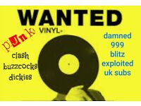 Wanted punk record collection / job lot