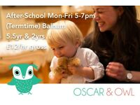 After-School Nanny, £12/hr, Balham 5-7pm Mon-Fri Term-Time