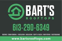 $500 OFF YOUR NEW ROOF WITH BART'S ROOFTOPS