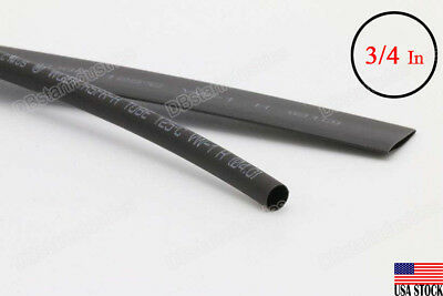 Black Heat Shrink Tubing 3420mm Diameter X 4 Ft 21 Ratio Sleeve Wire Wrap