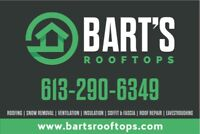 BART'S ROOFTOPS manufacturer certified roofers