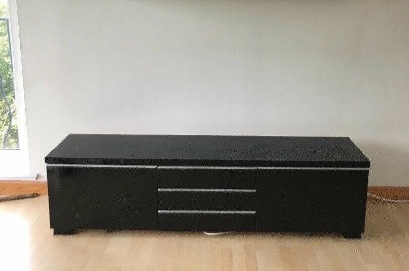 Fantastic Ikea Besta Burs Tv Bench Unit In High Gloss Black 100 Montpelier In St Werburghs Bristol Gumtree Andrewgaddart Wooden Chair Designs For Living Room Andrewgaddartcom