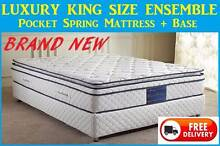 DELIVERED FREE - KING Bed Ensemble - Orthopedic Mattress + Base New Farm Brisbane North East Preview