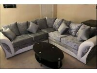 ¬¬ CASH ON DELIVERY ¬¬ SHANNON CRUSH VELVET ¬¬ CORNER SOFA OR 3+2 SOFA SET AVAILABLE NOW IN STOCK