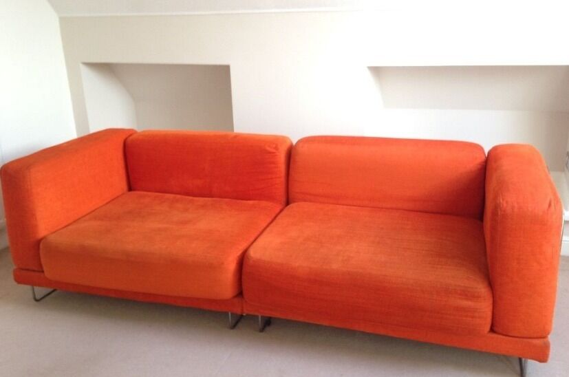 Superbe Ikea Tylosand Sofa, Orange Cover, Retail Price £650