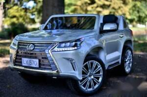 24v Licenced Lexus 570 Two Seater Kids ride on car - Silver Kingsgrove Canterbury Area Preview