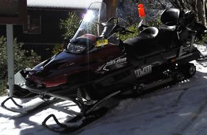 Snowmobile Red BRP V800 Falls Creek Alpine Area Preview