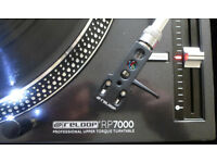 2 x Reloop 7000 Turntables with Shure M44-7 Carts. Nearly new. Hardly used. Great decks!