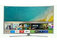 "Samsung UE65KU6400 65"" 4K HDR Ultra-HD Smart LED TV 1600 PQI Silver screen mirror."
