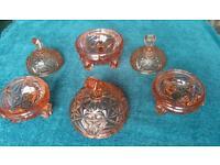 Antique Vintage cut glass bowls