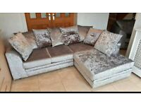 -- CASH ON DELIVERY -- NEW CRUSH VELVET CORNER SOFA OR 3+2 SOFA SET AVAILABLE NOW IN STOCK