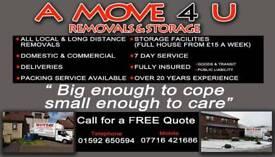 A move 4 u removals and storage,Fife,Edinburgh,Dundee, Glasgow