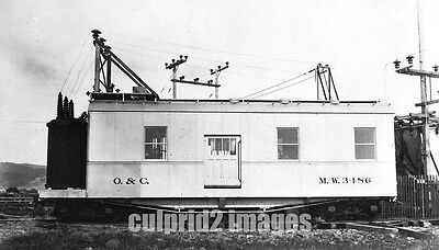 1916 Westside OR Oregon & California Railroad Red Electric Power Unit MW #3486