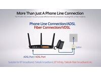 Replace your router for super speeds, supports fiber / vdsl & adsl TP link w9980 - 5Ghz & 2.4 Ghz